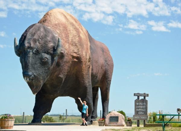 Worlds Largest Buffalo, Jamestown, ND